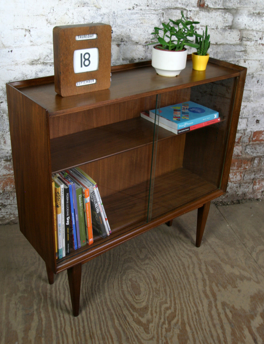Vintage Afromosia display cabinet by Richard Hornby