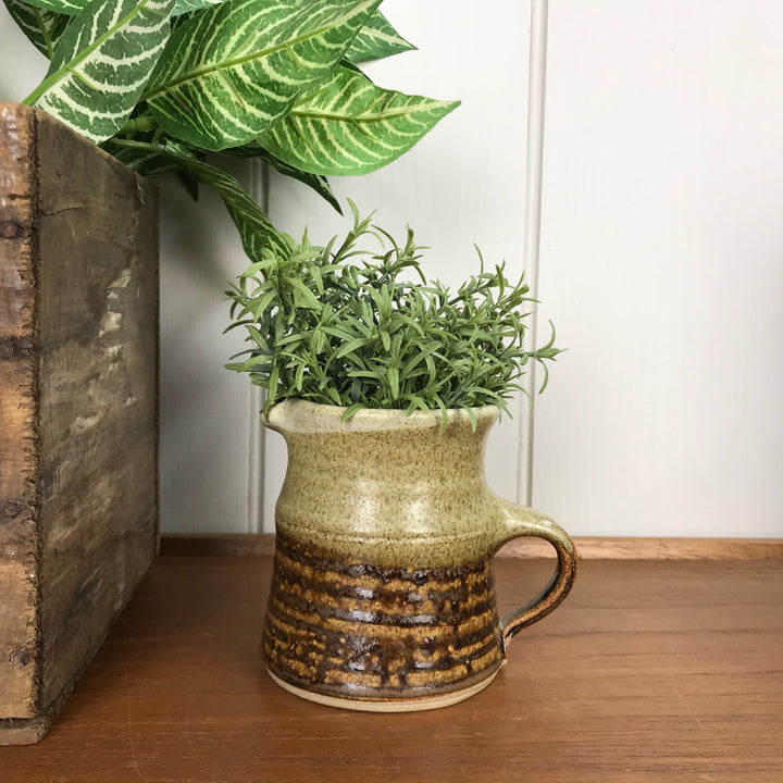 Studio Pottery Jug - Brown Pattern