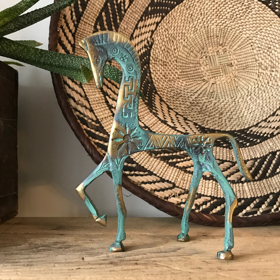 Vintage Bronze 'Horse' Ornament