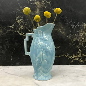 Vintage Art Deco Powder Blue Jug / Vase