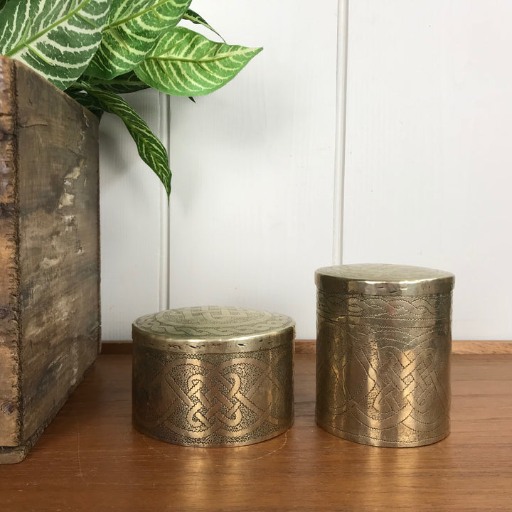 Vintage Brass Storage Tins