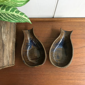 Vintage Studio Pottery Advocado Dishes