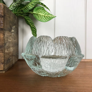 Mid Century Glass Ornamental Water Lily Bowl