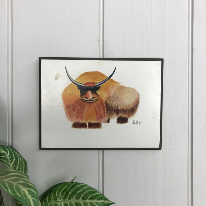 Vintage Animal Illustration - Bison