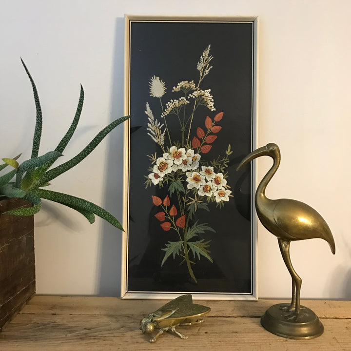 Vintage Framed Embroidery - 'Daisy'