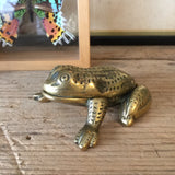 Vintage Brass Frog Trinket Box / Ornament