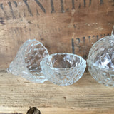 Vintage Glass Apple & Pear Trinket Boxes