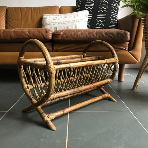 Vintage Bamboo Magazine Rack - 'Colonial'