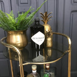 Brass Two Tiered Drinks Trolley / Bar Cart