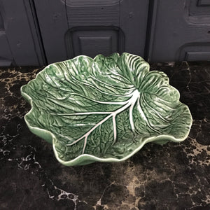 Large Vintage Cabbage Leaf Dish #A1