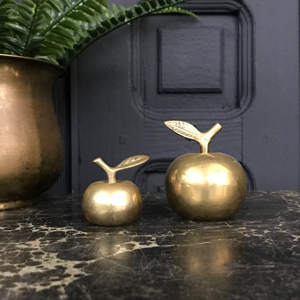 Vintage Brass Apple Bells