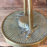 Vintage Brass Crane Ornament (tall)