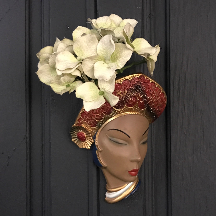 Rare Vintage Bossons 'Bali' Lady Wall Plaque
