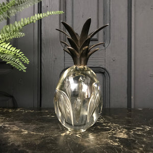 Mid Century Murano Glass & Brass Pineapple