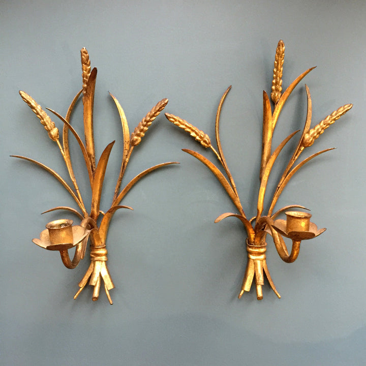 hollywood_regency_vintage_gold_wheat_sheaf_sconces
