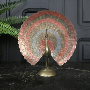Mid Century Brass Peacock Ornament #B1