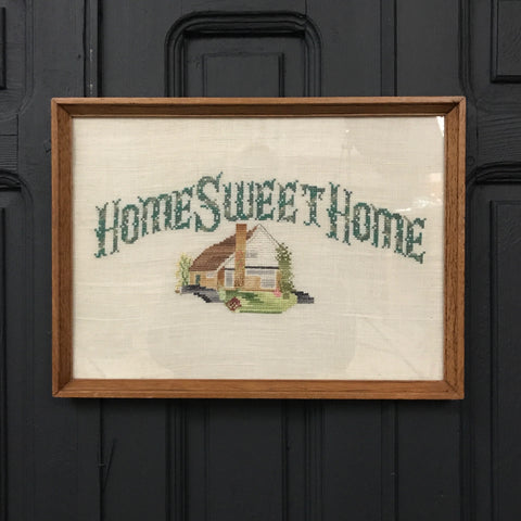 Mid Century 'Home Sweet Home' Needlework