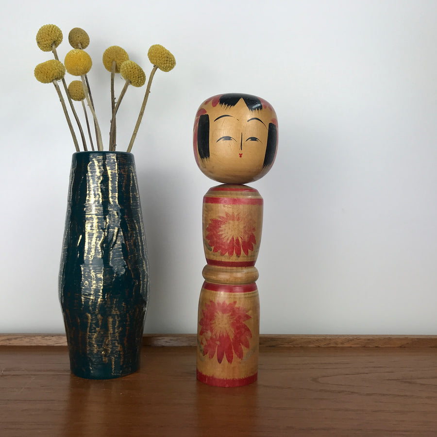 Vintage Japanese Kokeshi Doll A22 - MEDIUM