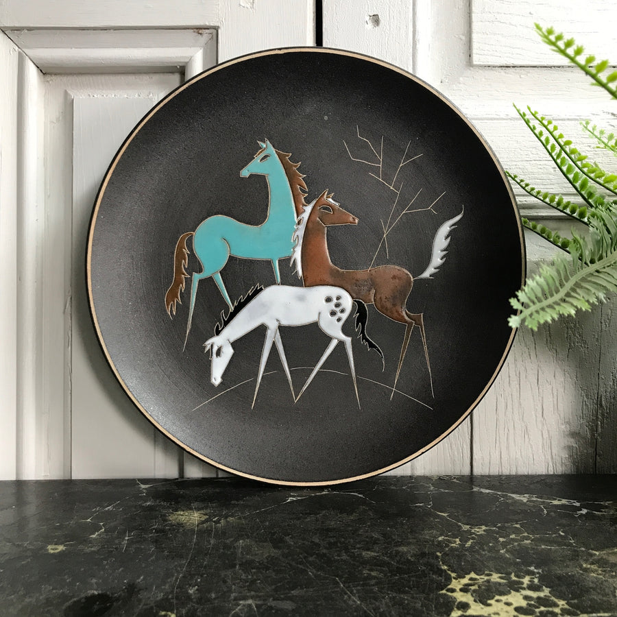Mid Century 'Horses' Plate/Wall Plaque