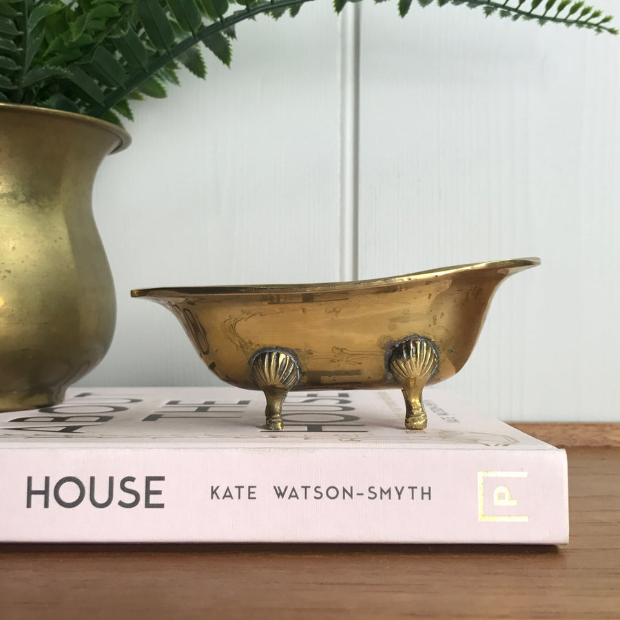 Mid Century Brass Bath Soap Dish/Ornament