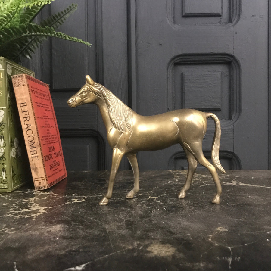 Vintage Brass Horse Ornament