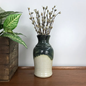 Mid Century West German Green/Cream Vase A2