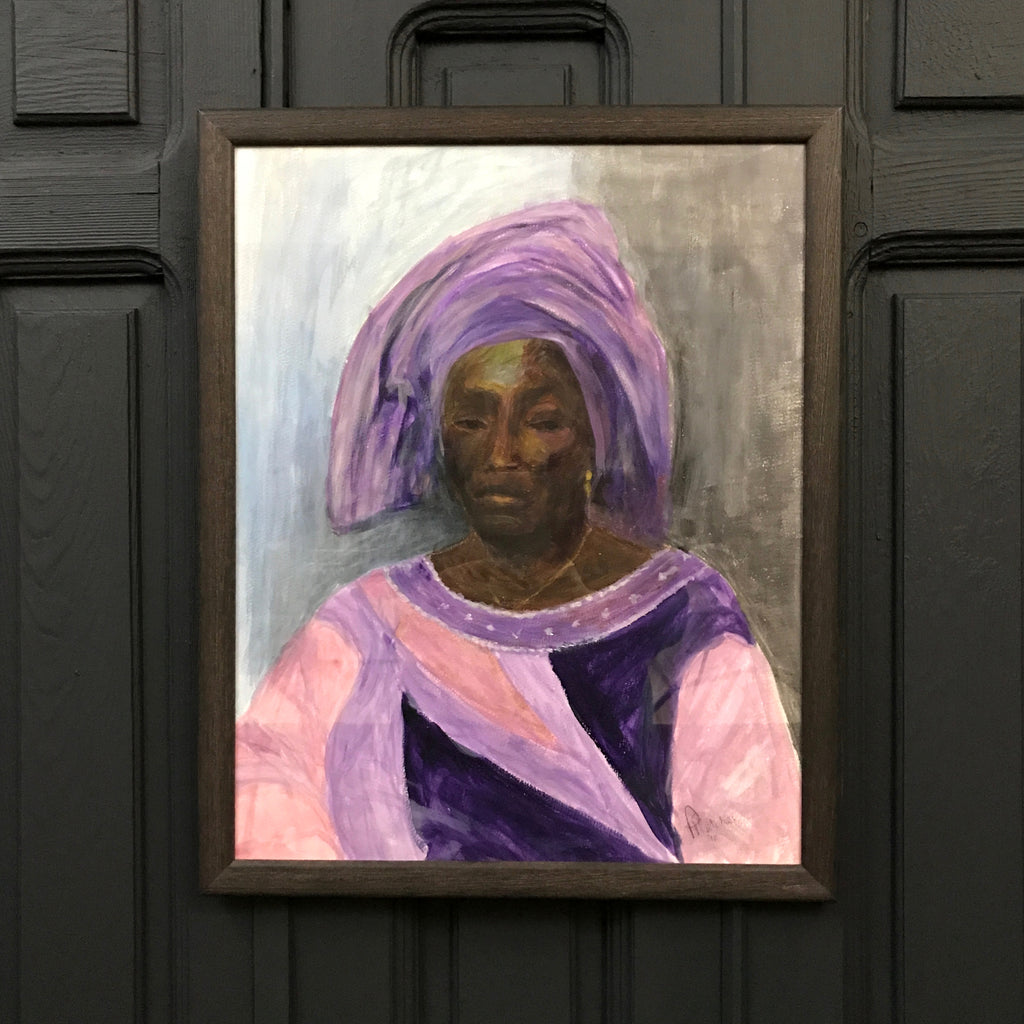 Framed Painted Portrait of a Lady