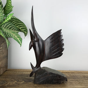 Mid Century Carved Sailfish