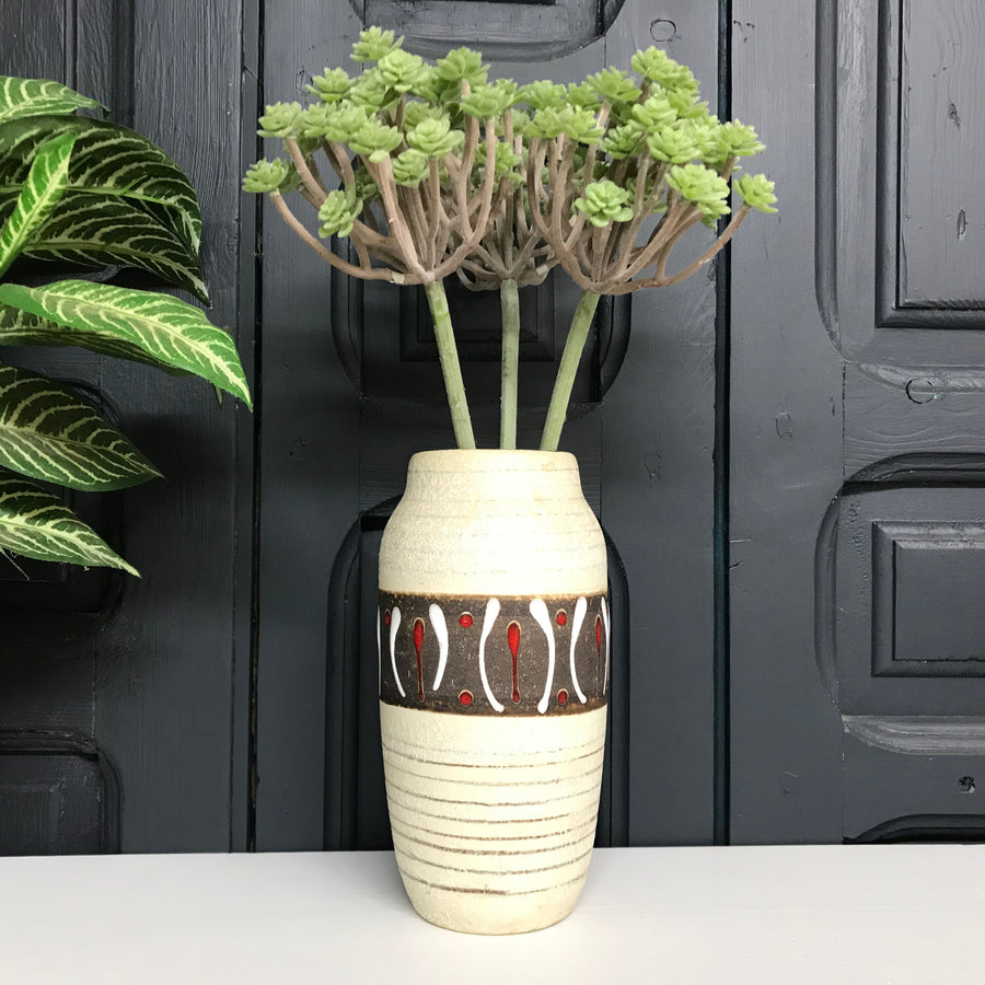Mid Century West German Pattern Vase B2