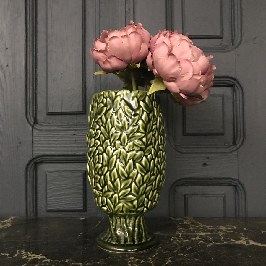 'Green Leaves' SylvaC Ceramic Vase #Large