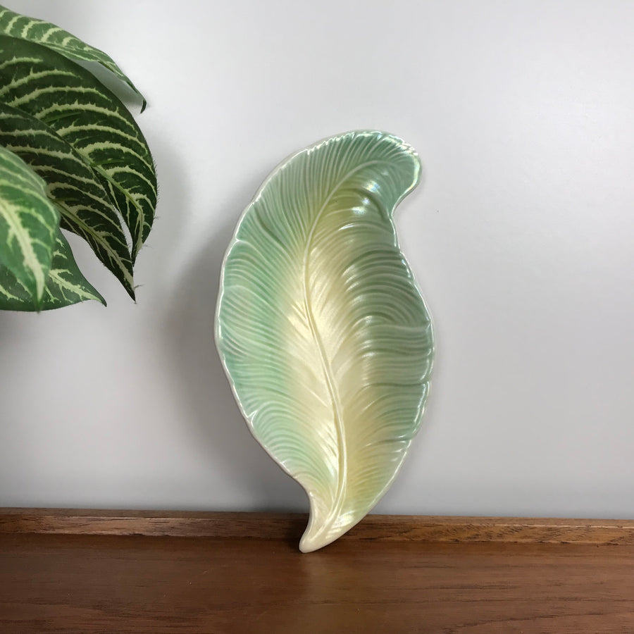 Vintage Green Leaf Dish - Small
