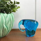 Mid Century Glass Elephant Paperweight/Ornament