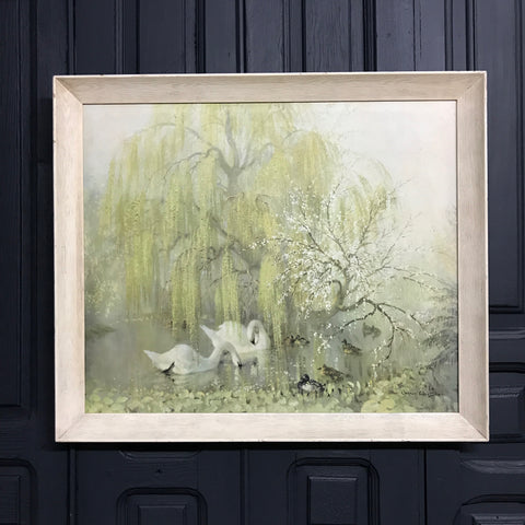 Mid Century 'Lakeside in Spring' Framed Picture