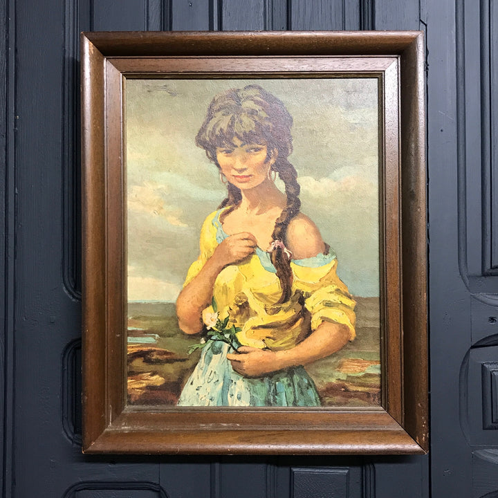 Mid Century 'Flower Girl' Framed Print