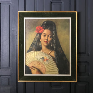 Mid Century 'Spanish Lady' Framed Print