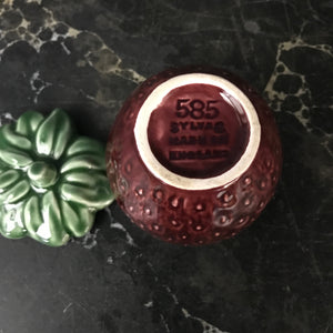 Vintage Ceramic Strawberry Preserve Pot