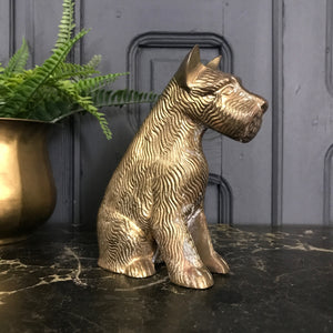 Mid Century Brass 'Scottie' Dog