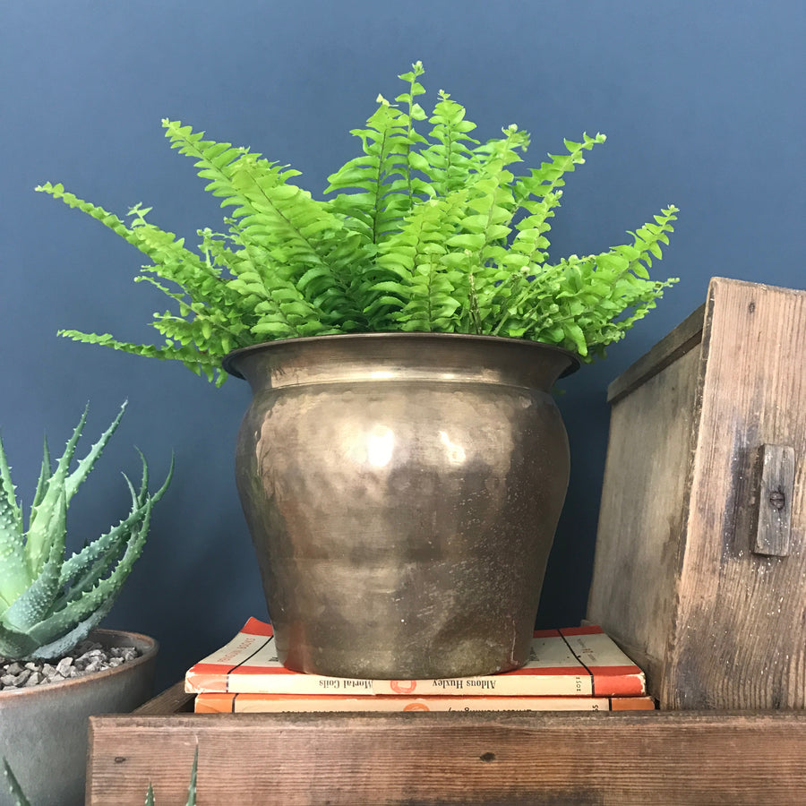 Vintage Brass 'Hammered' Planter