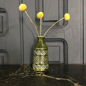 'Geometric' SylvaC Ceramic Green Vase