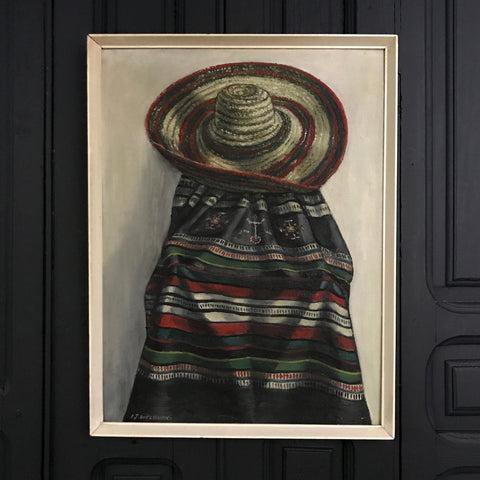 Mid Century Framed Print 'The Mexican'