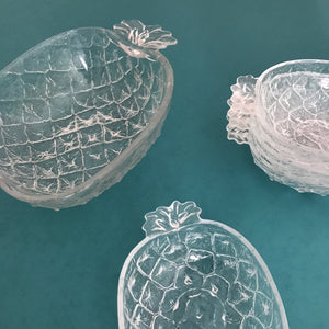 Vintage Pineapple Serving Dish & Bowls