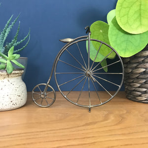 Vintage Brass 'Penny Farthing' Ornament