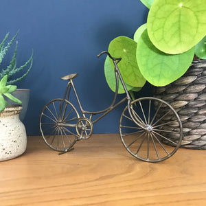 Vintage Brass Bicycle Ornament