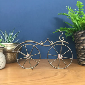 Vintage Brass 'Free Wheeling Bicycle' Ornament