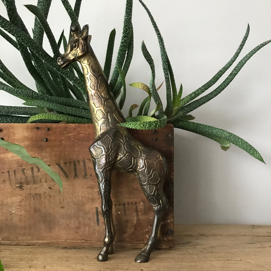 Vintage Mid Century Brass Giraffe (2 available)