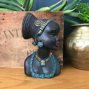 Vintage African Lady Ornament/Wall Plaque #2