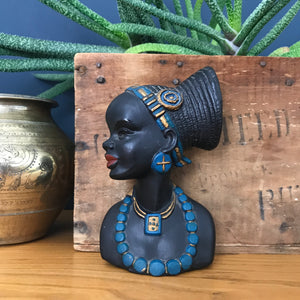 Vintage African Lady Ornament/Wall Plaque