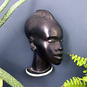 Vintage African Lady Wall Plaque #1