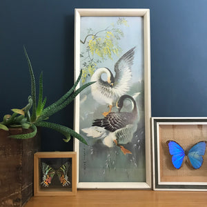 Vintage 1960s Geese Framed Picture