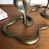 Mid Century Brass Cobra Candlesticks (pair) #A1